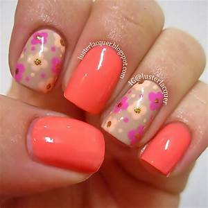 Neon Orange And Pink Nail Designs | www.pixshark.com - Images Galleries With A Bite!