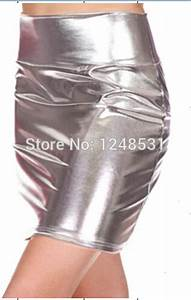 2015 lady metallic liquid pencil skirt mini skirt above