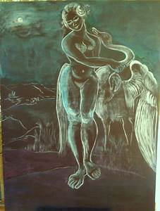 Leda And The Swan Painting by Michele D B