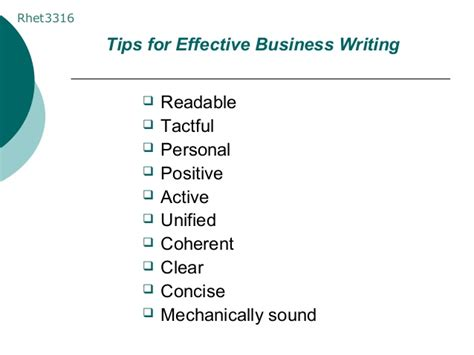 Tips For Effective Business Writing
