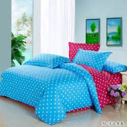 popular blue polka dot comforter buy cheap blue polka dot comforter lots from china blue polka