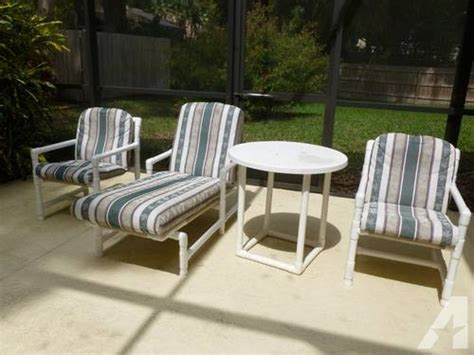 white modern pvc patio furniture set for sale in