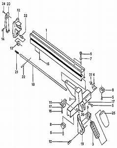 Rip Fence Assembly Diagram  U0026 Parts List For Model Bt3000
