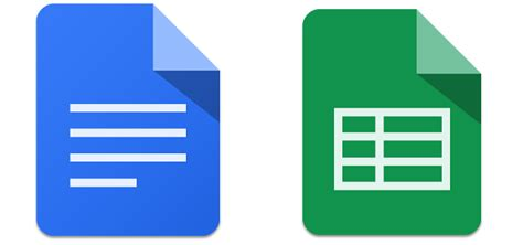 Les apps Google Docs et Sheets abordent le Play Store