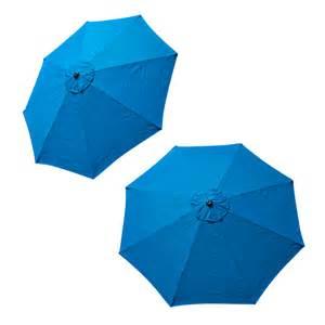 top patio umbrella cover 9 ft 8 ribs canopy blue