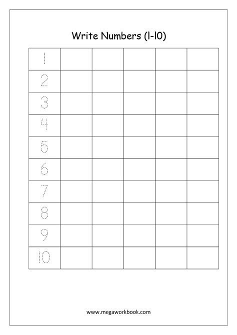 Free Printable Number Tracing And Writing (110) Worksheets  Number Recognition And Counting
