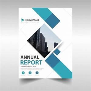 Download Blue Creative Annual Report Book Cover Template