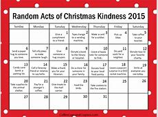 Random Acts of Kindness Ideas for December