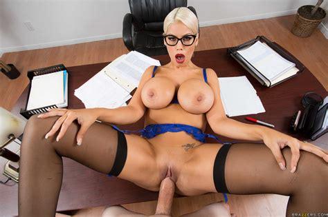 Curvaceous Blonde Teacher Is Having Steamy Sex Photos