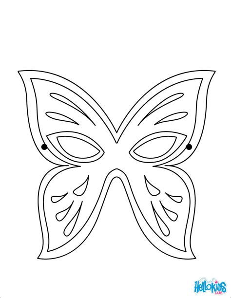 deco chambre minnie butterfly mask coloring pages hellokids com