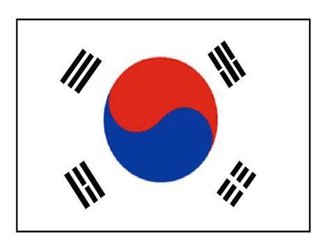 Risultato immagine per bandiera sud corea