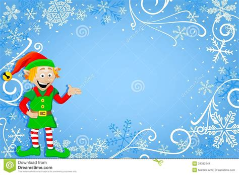 blue christmas background  elf stock vector