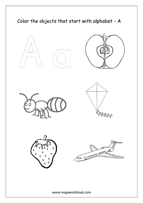 color that starts with letter d free worksheets alphabet picture coloring 49148