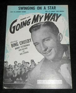 swing on a crosby swinging on a as sung by crosby in going my way