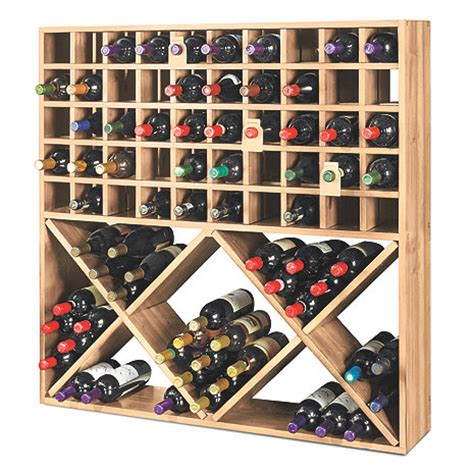 pictures of wine racks jumbo bin grid 100 bottle wine rack unstained wine