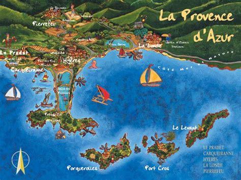 Hyères: la mappa delle isole d'oro