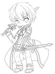 Sword Art Online Chibi Coloring Pages