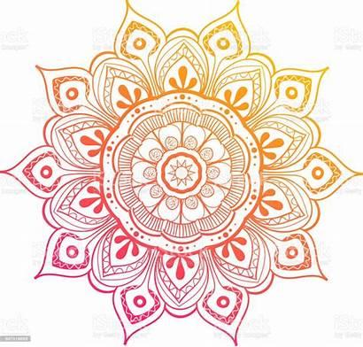 Colorful Mandala Decoration Vector Flower Pattern Round