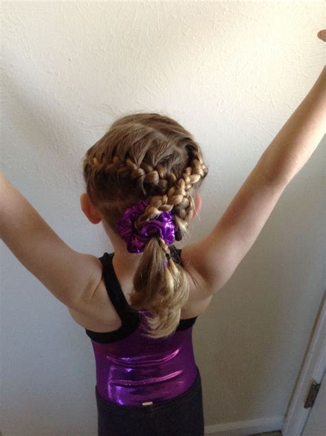 gymnastics hair d s first meet delaney pinterest