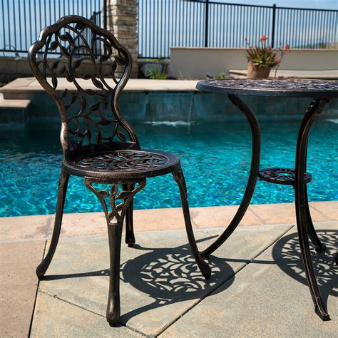 Patio Furniture Table by 3pc Bistro Set Patio Table Chairs Ivory Furniture Balcony