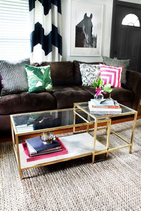 Ikea Glass Living Room Table by Diy Tuesday Easy Gold Ikea Coffee Table Hack Home
