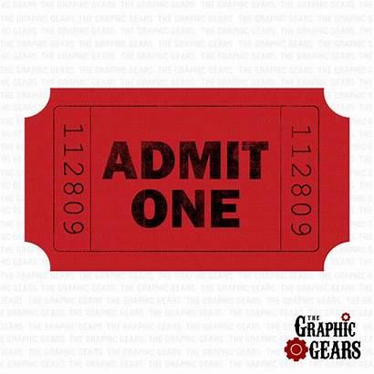 Ticket Admit Stub Clip Clipart Tickets Printable