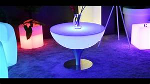 Table Basse Multicolore : table basse lumineuse led multicolore steel moon by youtube ~ Teatrodelosmanantiales.com Idées de Décoration