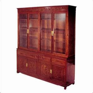 chinese rosewood 72quot display cabinet with grape design With rosewood furniture home design