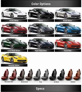 Luxury Car Comparison Chart Chevrolet Corvette Stingray Colors 2014 Corvette