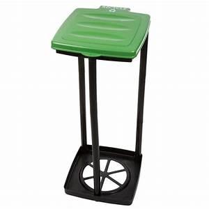 Wakeman 13 Gal Green Portable Garbage Trash Bag Holder
