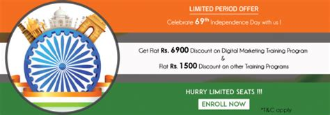 cheap digital marketing course institute pune offering independence day special