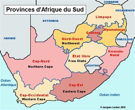 afrique du sud carte politique