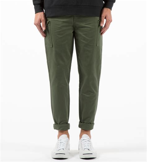 I Love Ugly Forest Green Military Pants In Green For Men