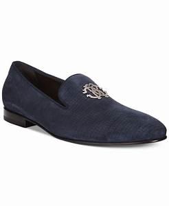 Roberto cavalli Plaintoe Bit Loafers in Blue for Men