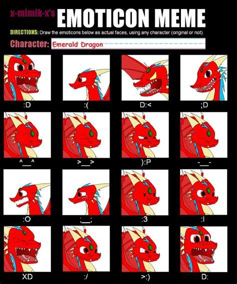 Meme Emoticons Text - emoticon meme by driko53 on deviantart