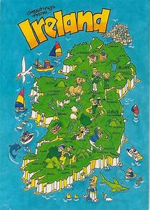 Greetings From Ireland Map