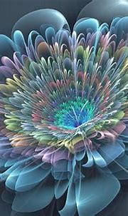 Abstract 3D art flowers in full bloom cloth silk art wall ...