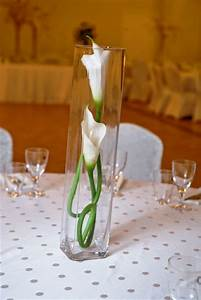 Two Flowers & Stems in Centerpiece - Demers Banquet Hall