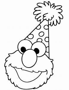 Happy Birthday Elmo Coloring Page | H & M Coloring Pages