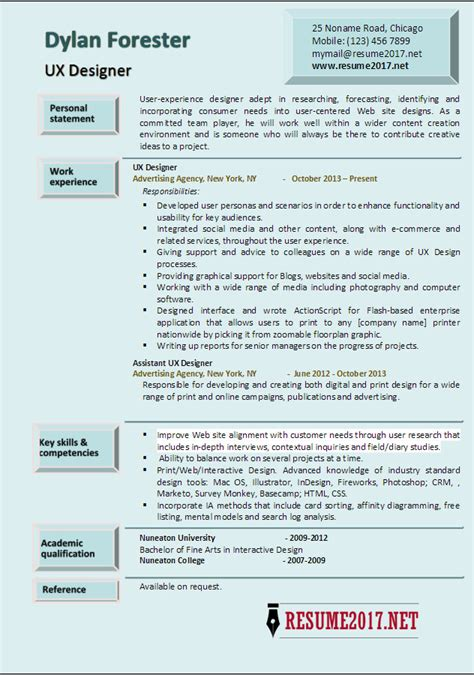 Interaction Designer Resume by User Experience Designers Resume