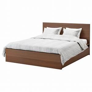 Lit Ikea 160 : malm cadre lit haut 4rgt teint brun plaqu fr ne 160 x ~ Teatrodelosmanantiales.com Idées de Décoration