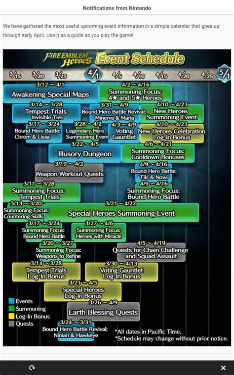 event calendar fireemblemheroes