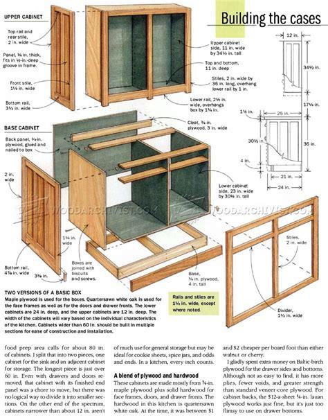 kitchen cabinets plans woodarchivist
