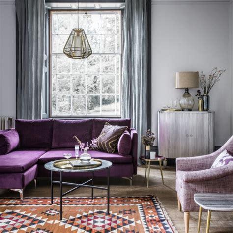 room reveal purple  grey living room sophie robinson