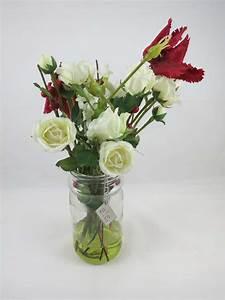 Rosen Im Glas : bauernstrau im glas 30 cm wei e rosen deko sia home fashion geschenke kunst und wohnideen ~ Eleganceandgraceweddings.com Haus und Dekorationen