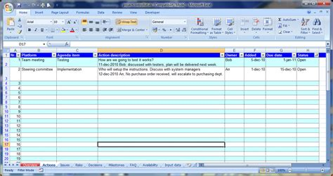 meeting minutes template excel bookletemplateorg