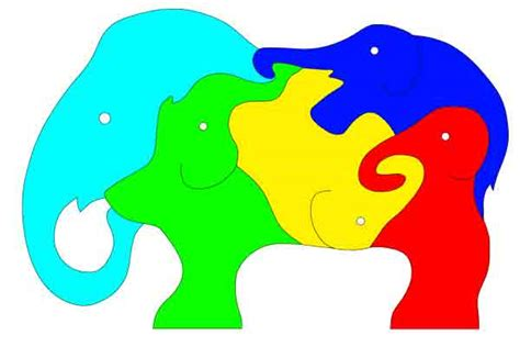 Simple Scroll Saw Puzzle Patterns Print Ready Free To