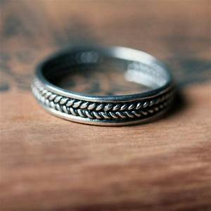 sterling silver braided ring unisex wedding band mens With custom made mens wedding rings