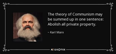 karl marx quote  theory  communism   summed