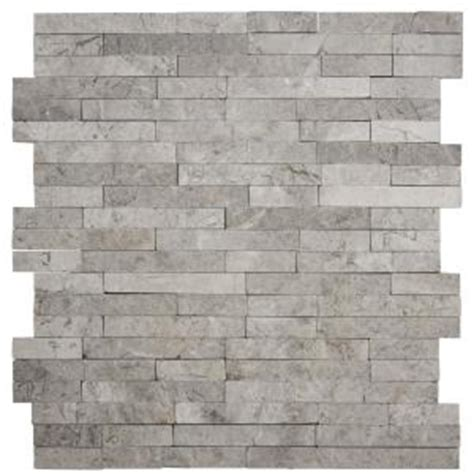 home depot kitchen wall tile jeffrey court fortress splitface 12 5 in x 12 5 in x 8 7136